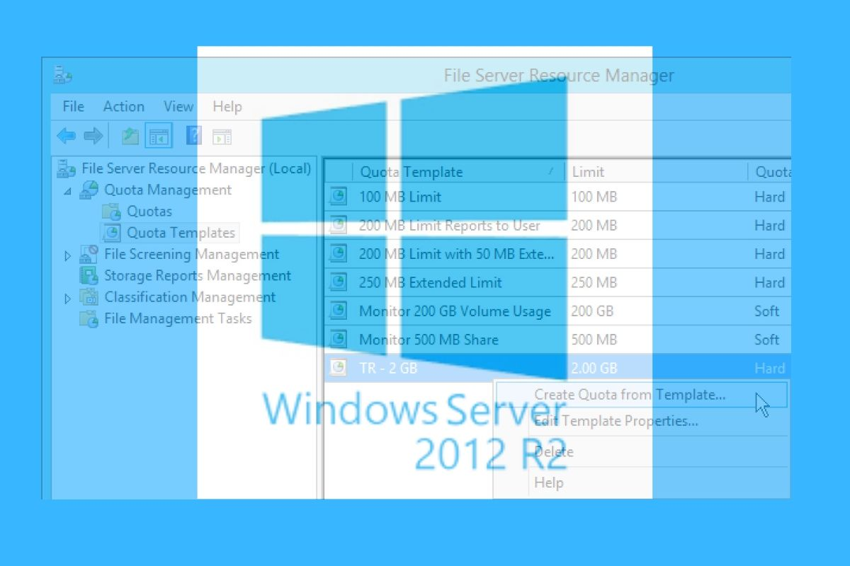 FSRM Windows Server